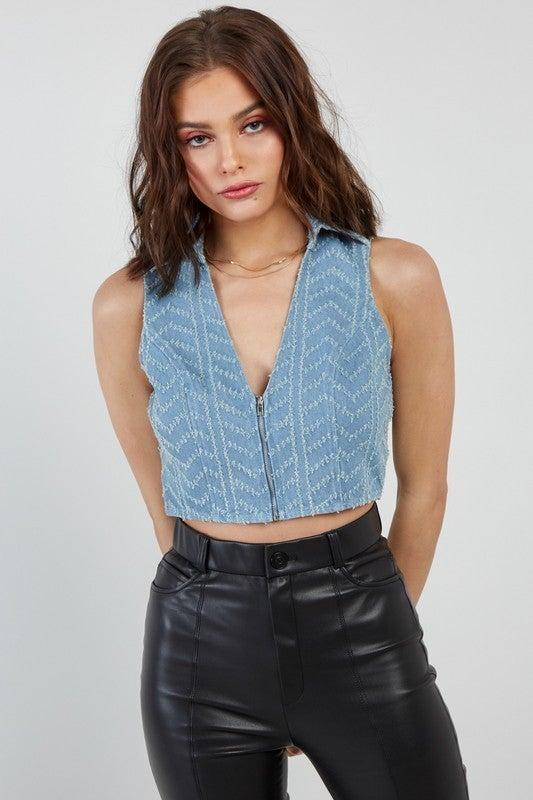 Loves It Denim Vest *Final Sale*