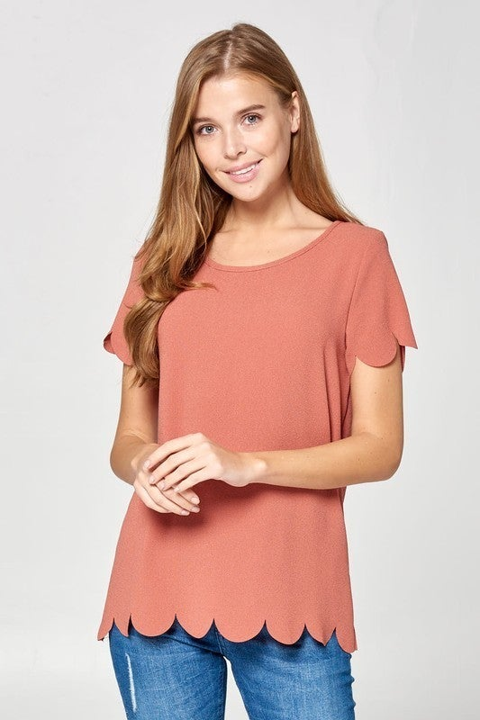 Rosie Scalloped Top *Final Sale*