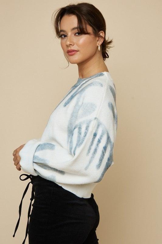 Graffiti Sweater Top