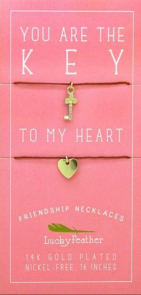 Friendship Necklace - Key/Heart