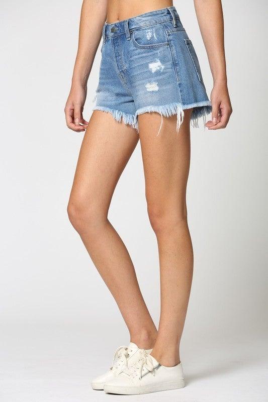 Fray Mom Shorts *Final Sale*