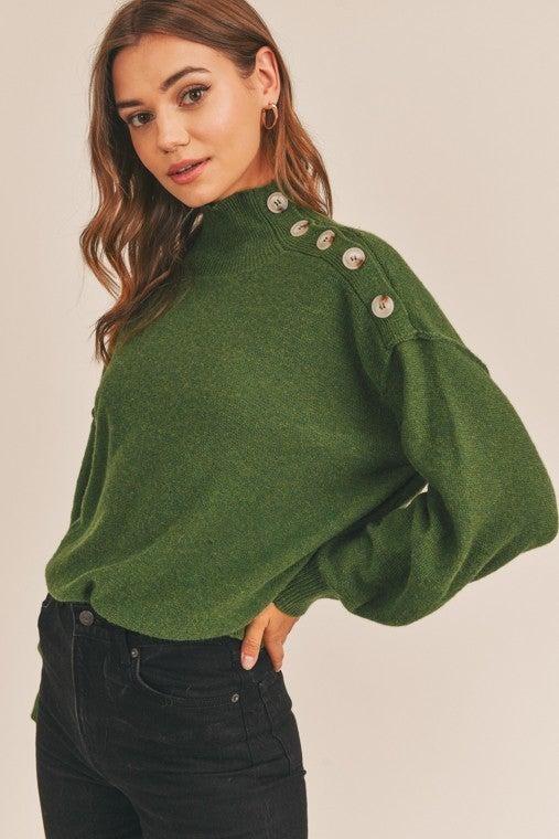 Mossy Mock Neck Sweater