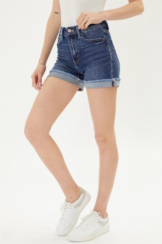 Lily High Rise Denim Shorts