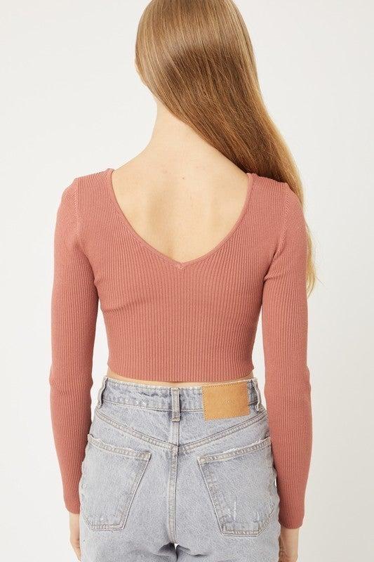 Katie Long Sleeve Crop Top *Final Sale*