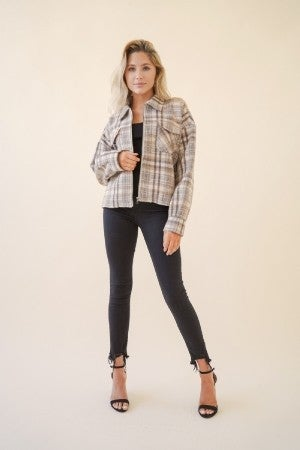 Totally Taupe Crop Jacket