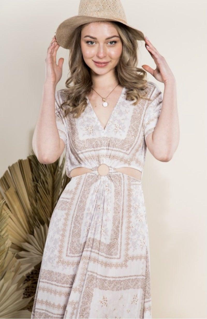 Ring On It Cutout Dress *Final Sale*