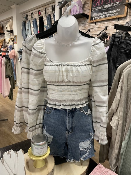 Watercolor Smocked Blouse