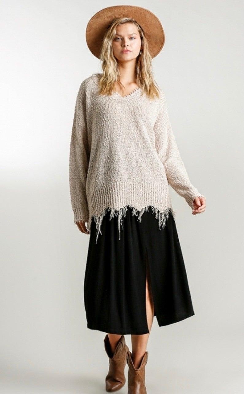 Nilla Frayed Sweater