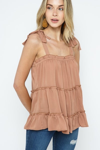 Totally Tiered Tie Top *Final Sale*