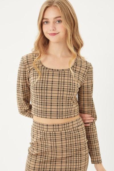 Plaid Love Skirt Set