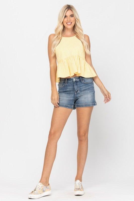 Marigold High Waist Shorts