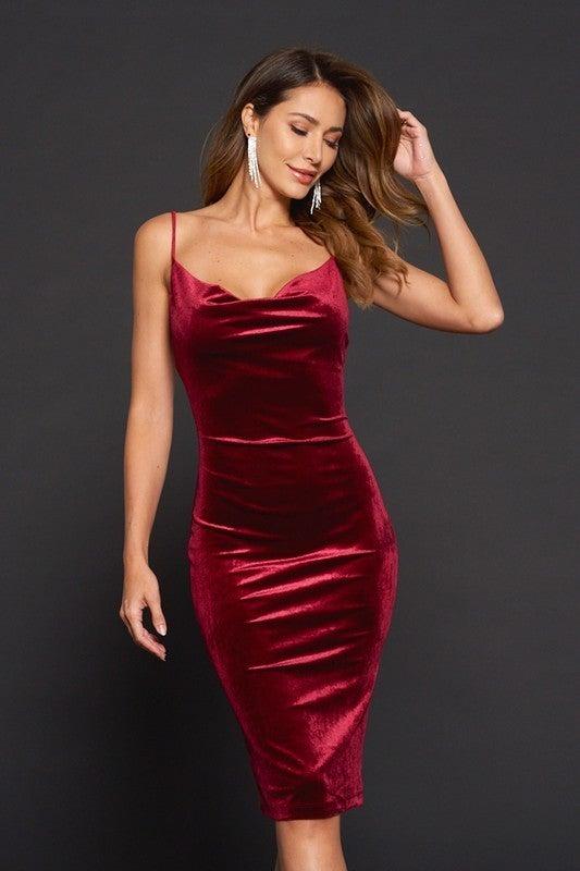 Nikki Velvet Midi Dress *Final Sale*