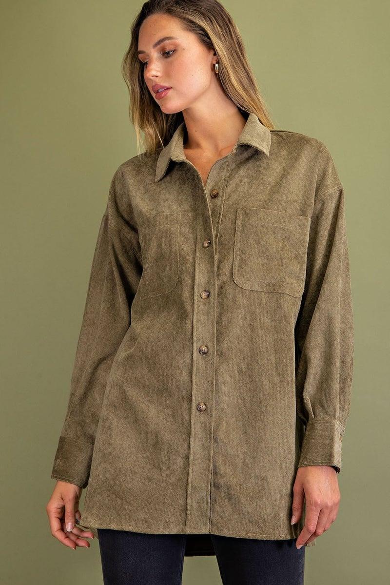 Billie Button Down Shirt Jacket