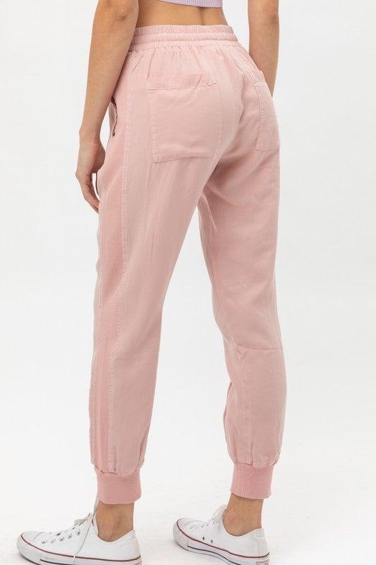 Think Pink Elastic Joggers