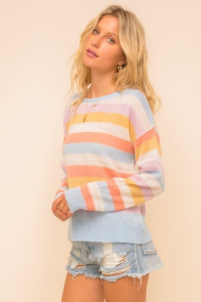Multi Color Stripe Sweater *Final Sale*
