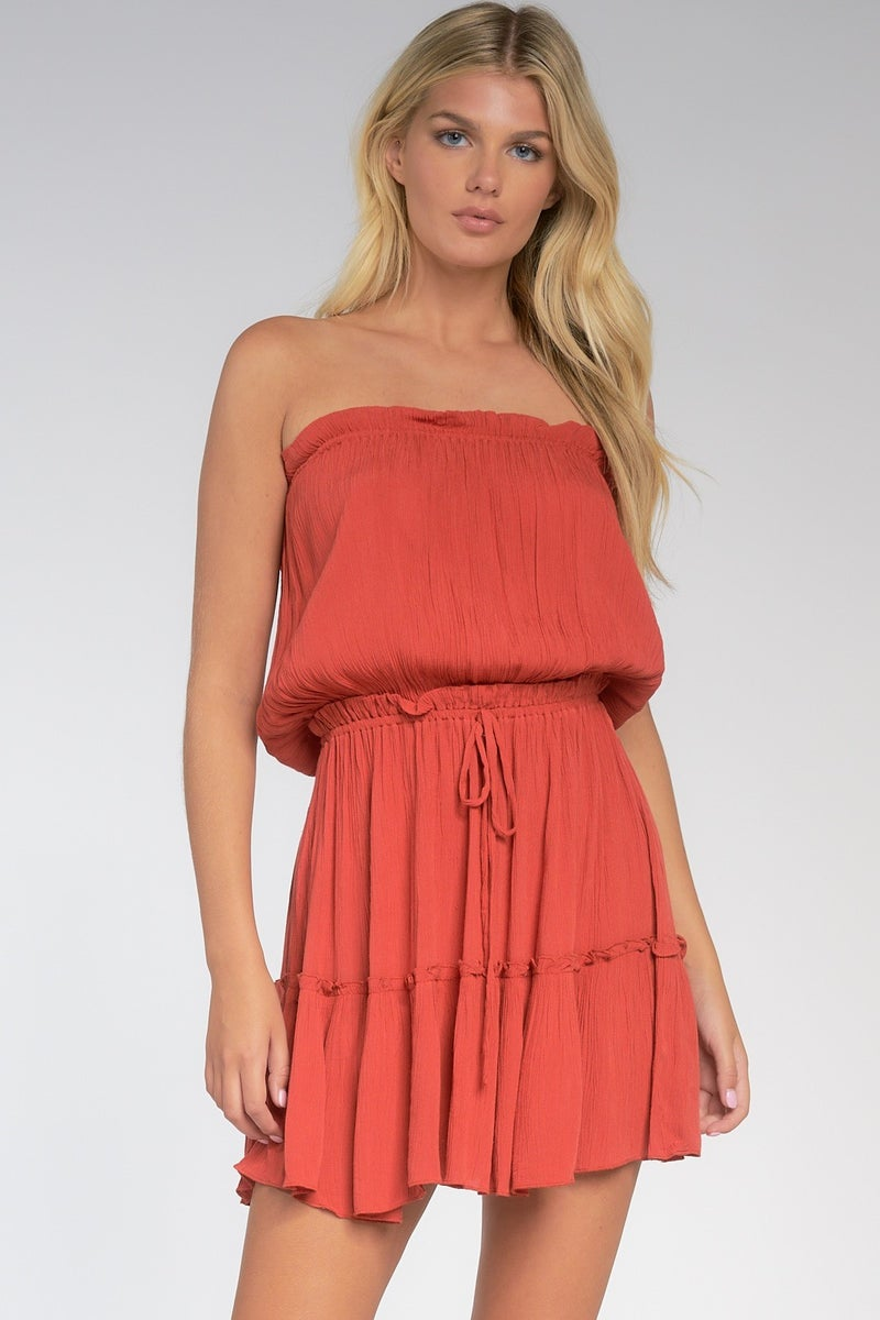 Island Dreamin' Strapless Dress