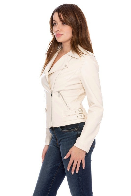 Kelly Vegan Leather Jacket