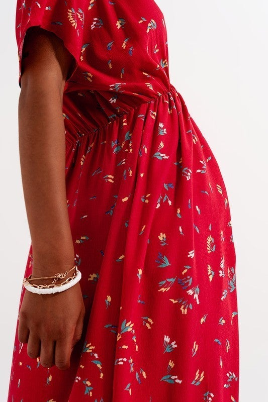 Floral Raine Midi Dress