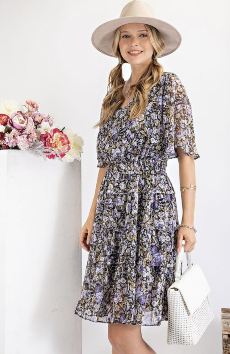 Violets Mini Dress