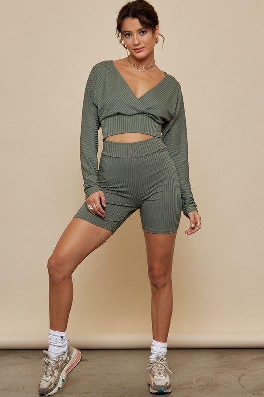 Bailey Top And Bike Shorts Set