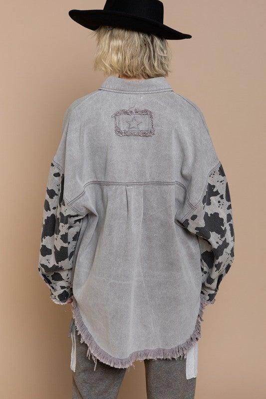Daisy's Cow Print Jacket