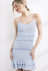 Katie Smocked Ruffle Dress
