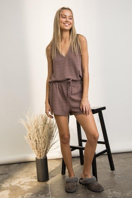 Anne Sleeveless Top & Shorts Set