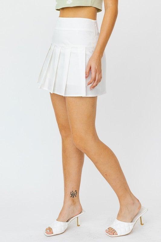 Poplin Pleated Tennis Skirt