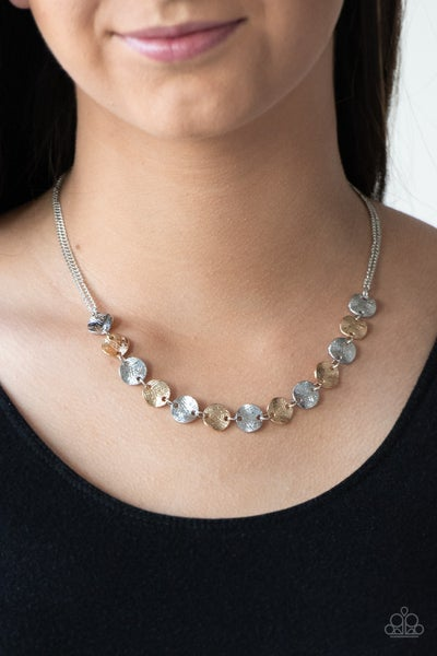 Simple Sheen - Silver Necklace set