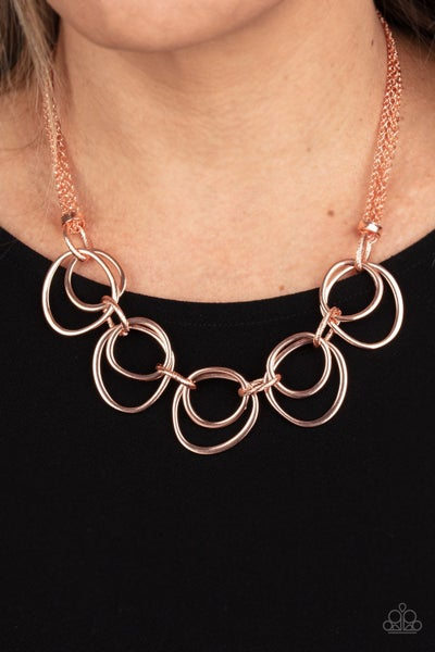Asymmetrical Adornment - Copper Necklace