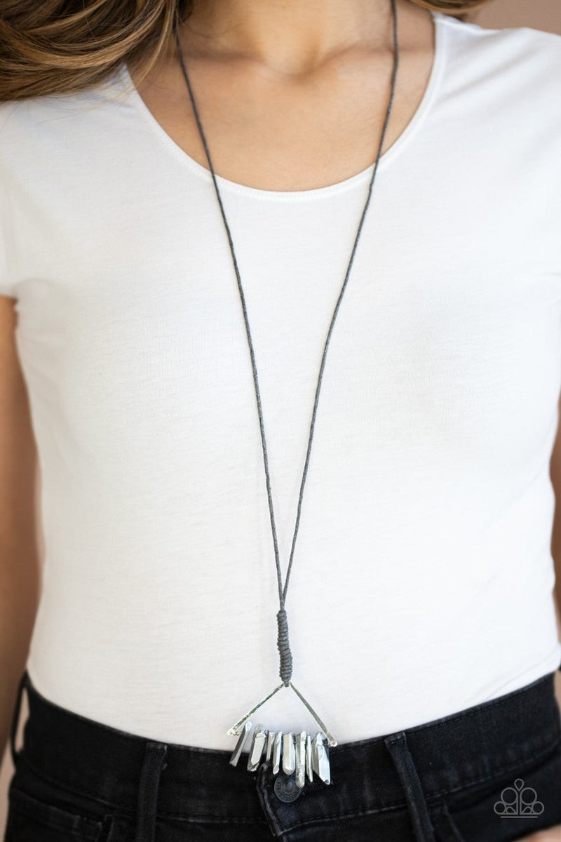 Raw Talent - Silver Necklace