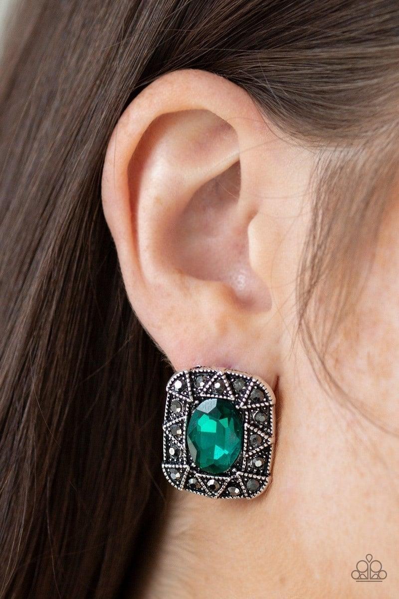 Young Money - Green Earring