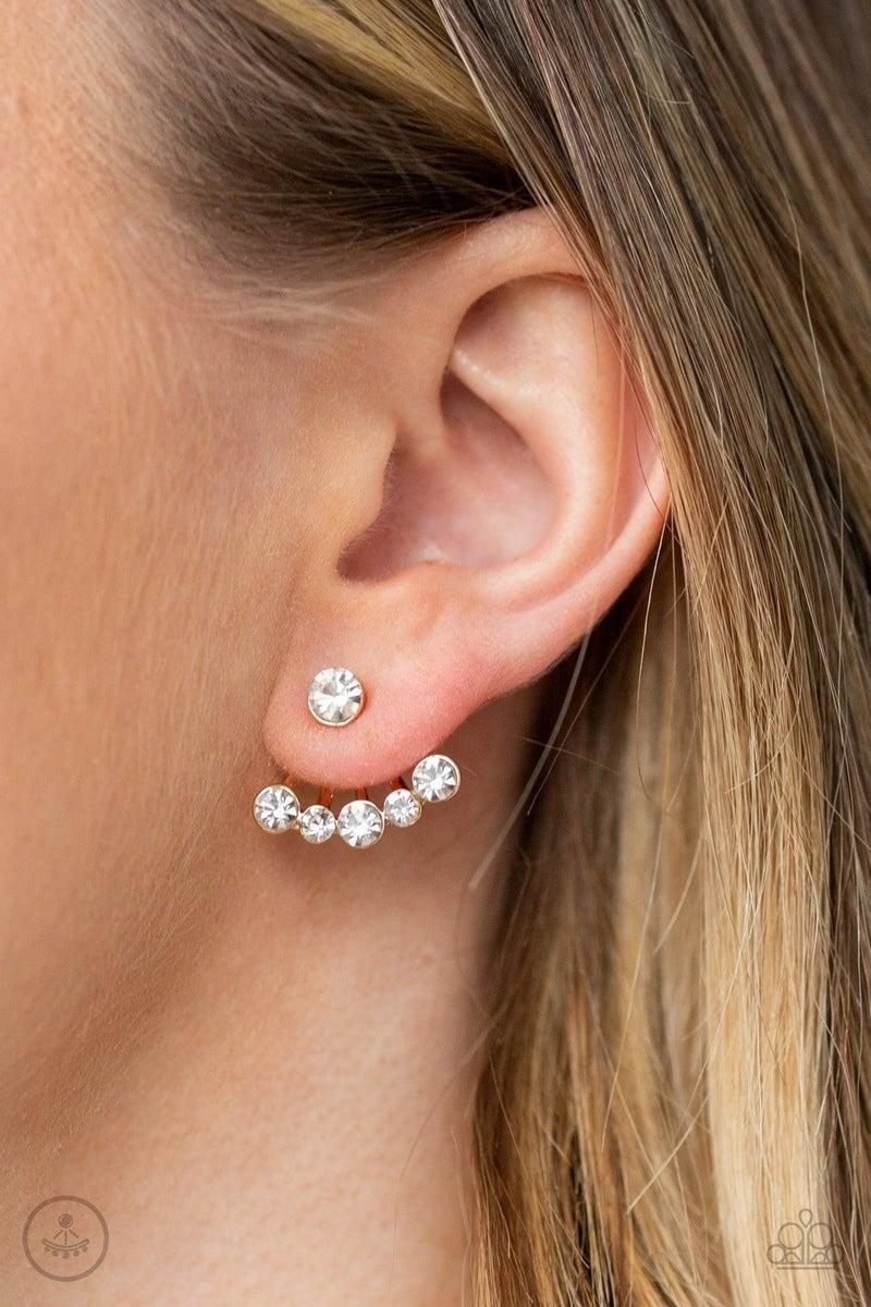 Jeweled Jubilee - Gold Earring
