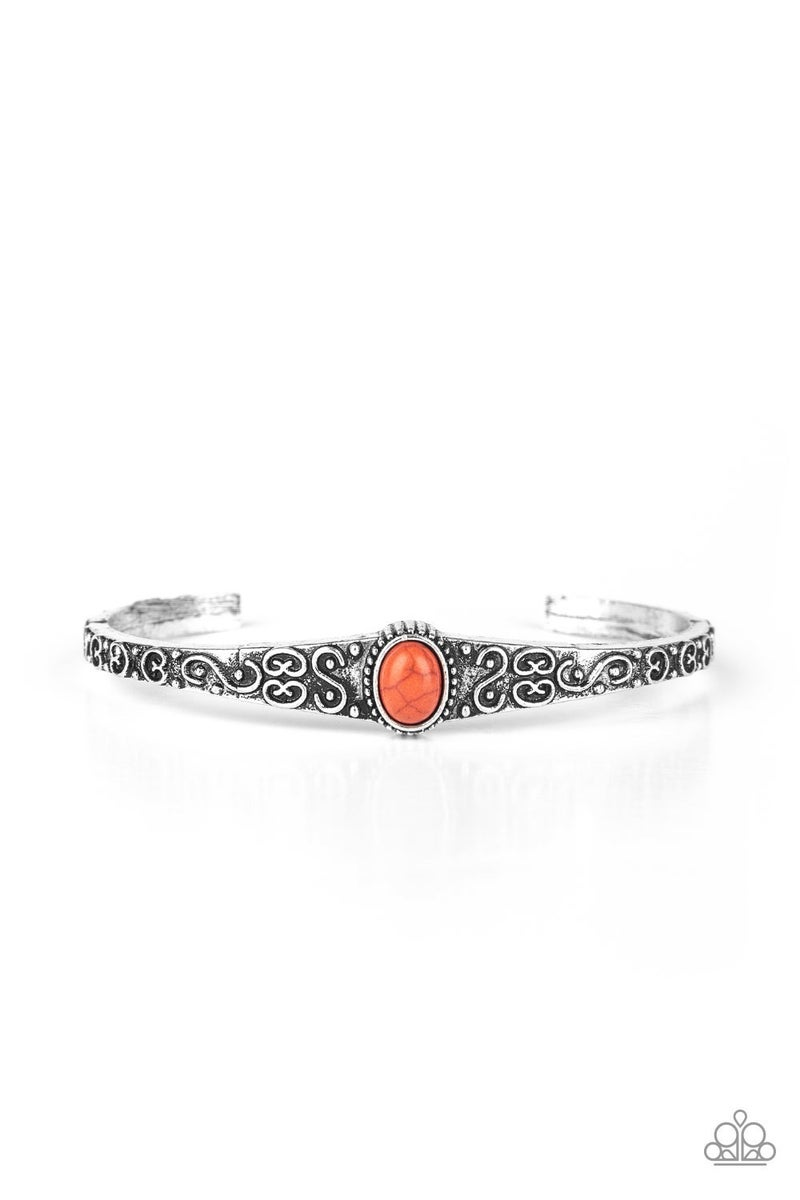 Make Your Own Path - Orange Bracelet