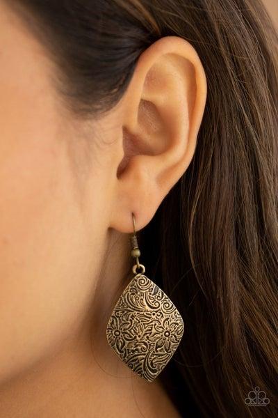 Flauntable Florals - Brass Earring