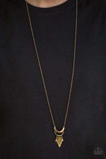 Trendsetting Trinket - Brass - Necklace & Earrings