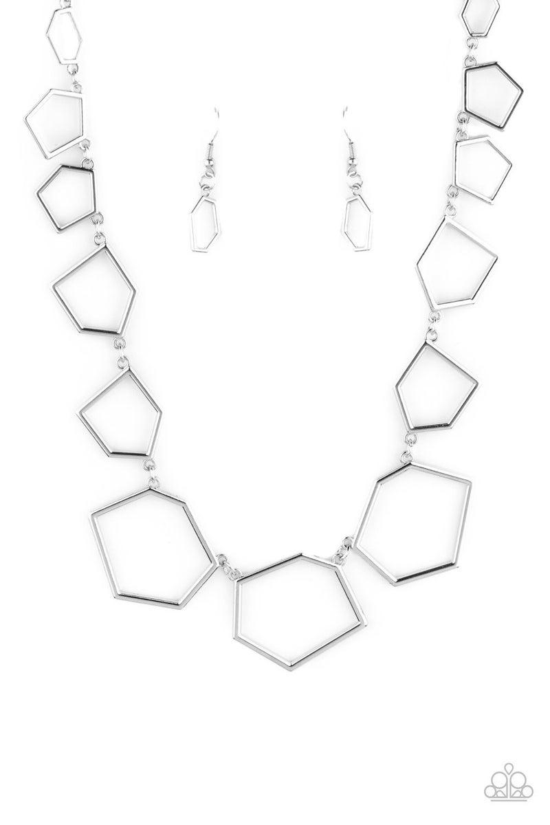 Full Frame Fashion - silver - Necklace set