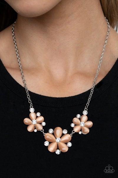 Effortlessly Efflorescent - orange Necklace