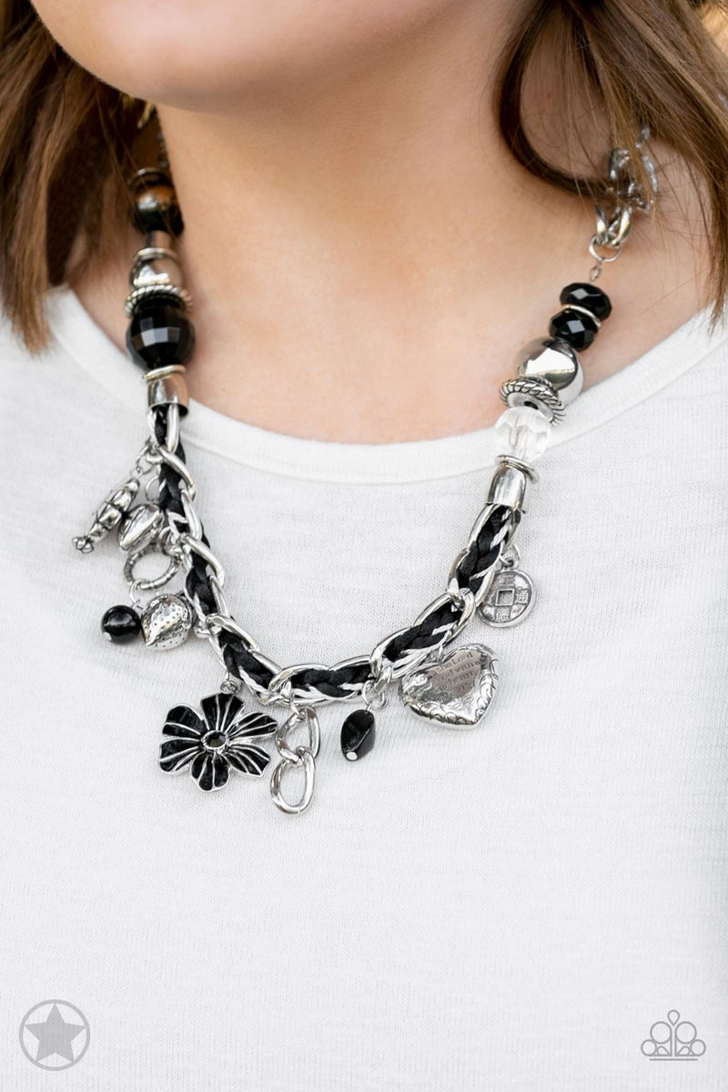 Charmed,I Am Sure Black Necklace