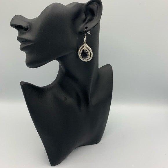 Millionaire Debonair Black Earring