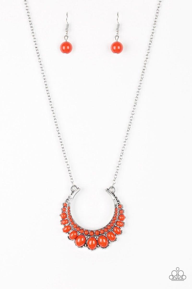 Count To ZEN - Orange Necklace set