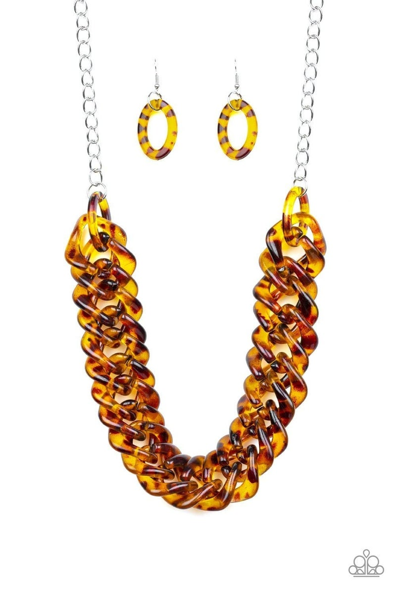Comin In HAUTE - Brown Necklace set