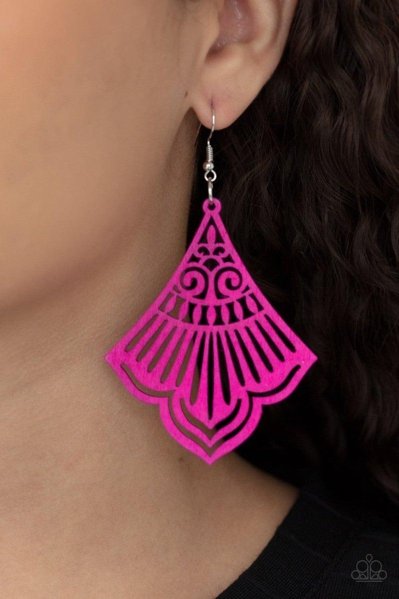 Eastern Escape - Pink Earring