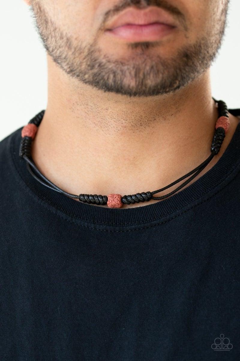 Volcanic Vagabond - Red Necklace