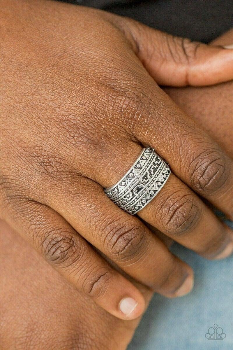 Textile Triumph Silver Ring