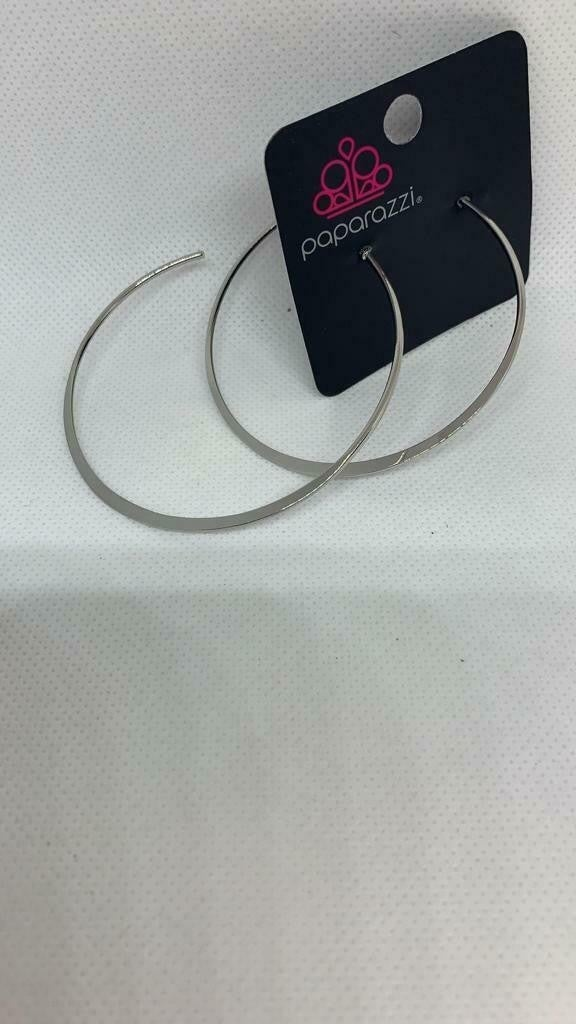 Don't Lose Your Edge Silver Hoop Earring.