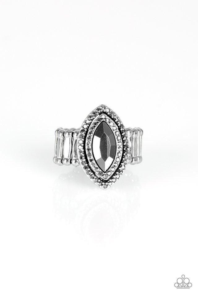 Modern Millionaire - silver - Paparazzi ring