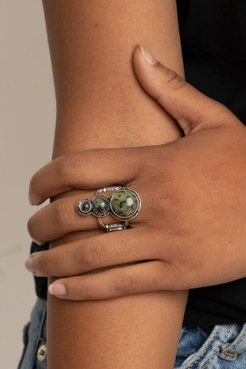 Marbled Magnificence - Green Ring