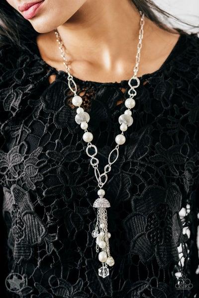 Designated Diva - White Necklace Set