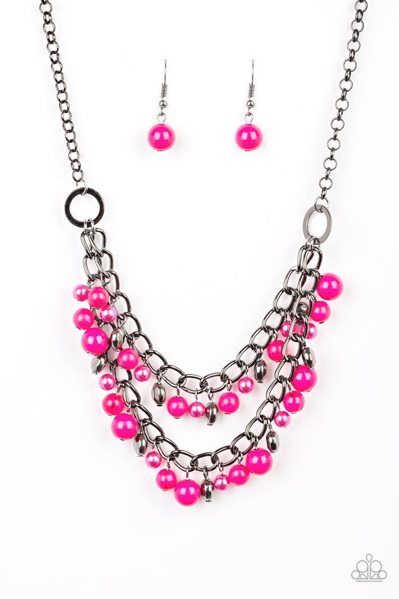 Watch Me Now - Pink  Necklace set